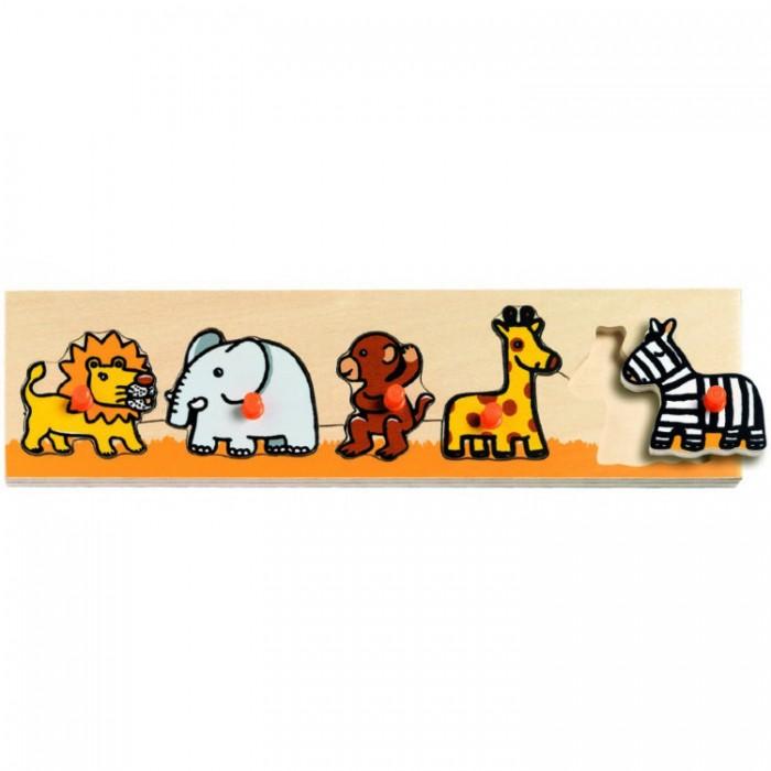 Деревянные игрушки Djeco Сортировка-пазл Саванна деревянные игрушки djeco головоломка пазл лило