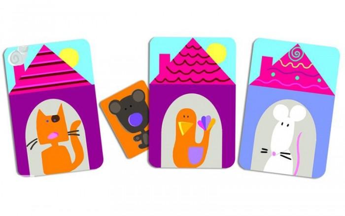 Игры для малышей Djeco Детская настольная карточная игра Где Додо настольные игры djeco настольная карточная игра мистибоо