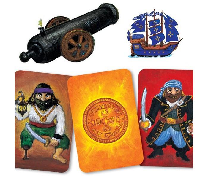 Игры для малышей Djeco Детская настольная карточная игра Пират настольные игры djeco игра лото дом
