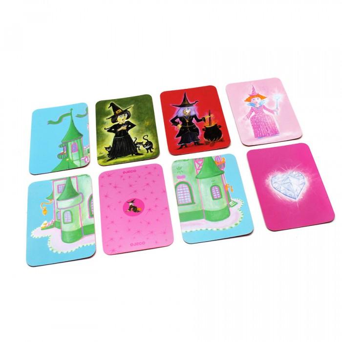 Настольные игры Djeco Детская настольная карточная игра Построй замок игры для малышей djeco детская настольная карточная игра мини семья