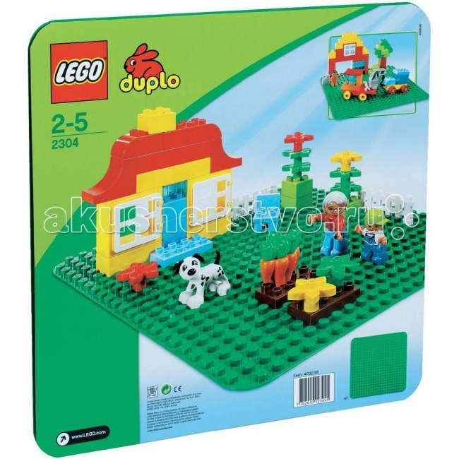 Lego Lego Duplo 2304 Лего Дупло Строительная пластина 38х38 new arrival dental all teeth removable standard teeth tooth model 28 pcs teeth student learning model