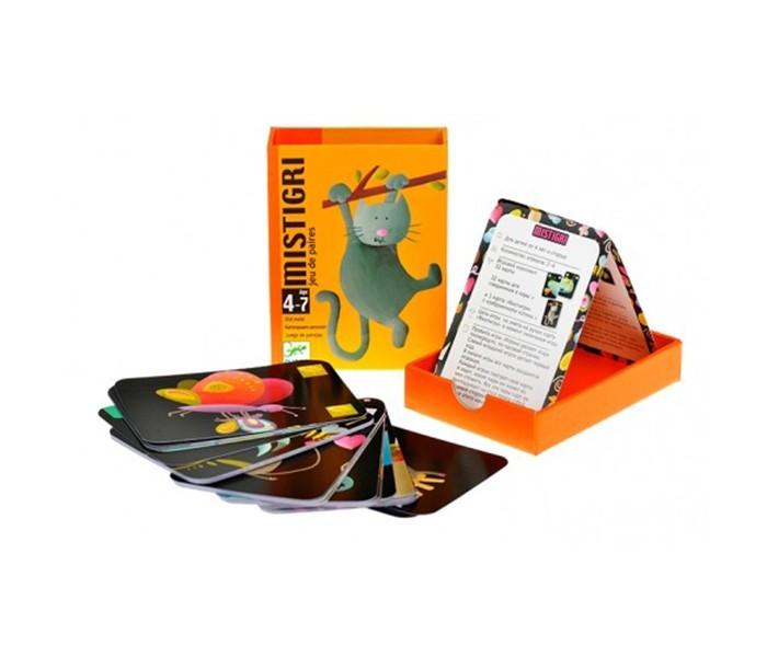 Игры для малышей Djeco Детская настольная карточная игра Мистигри игры для малышей djeco детская настольная карточная игра мини семья
