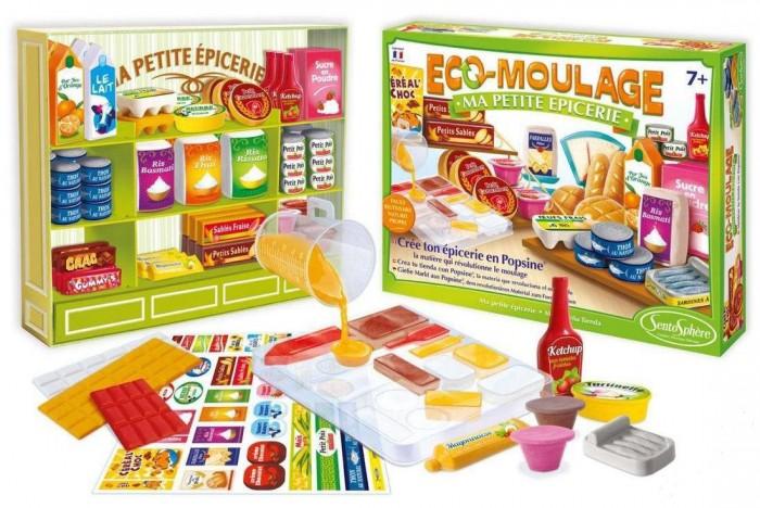Наборы для творчества SentoSpherE Набор для детского творчества Попсин Продуктовый магазин наборы для творчества 4м фигурки из формочки принцесса 00 03528