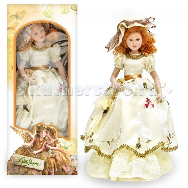 Куклы и одежда для кукол Lisa Jane Кукла фарфоровая Диана 10 25.4 см куклы lisa jane кукла фарфоровая ребекка