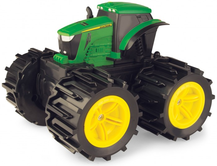 Машины Tomy Трактор John Deere Mega Monster Wheels с подсветкой и звуком tomy трактор john deere 6830