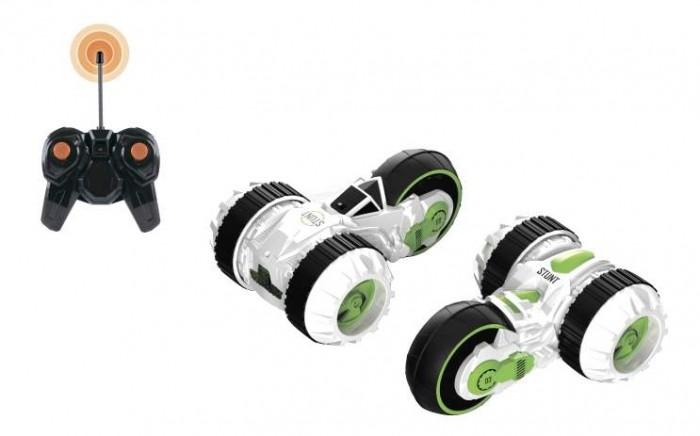 Машины 1 Toy Драйв трюковая трёхколёсная машина-перевёртыш на ручном вращение со светом c АКБ, Машины - артикул:442494