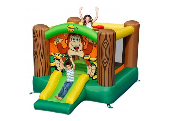 Спорт и отдых , Надувные батуты Happy Hop Надувной батут с горкой Дружба 9201G арт: 442654 -  Надувные батуты