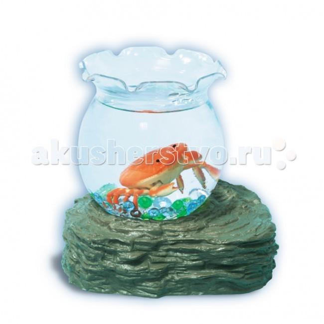 Электронные игрушки УникУМ Набор аквариум с 1 оранжевым крабиком