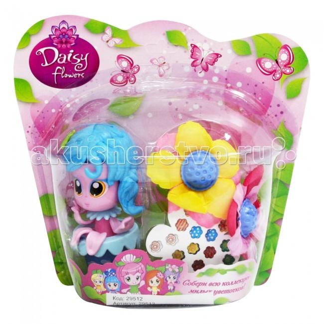 Куклы и одежда для кукол Daisy Набор кукла-цветочек 9 см с цветком и наклейками 29512 куклы и одежда для кукол daisy кукла принцесса 47843