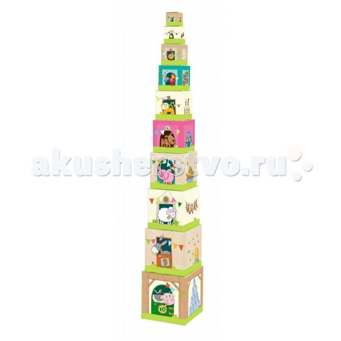 Деревянные игрушки Haba Пирамидка Ферма 005879