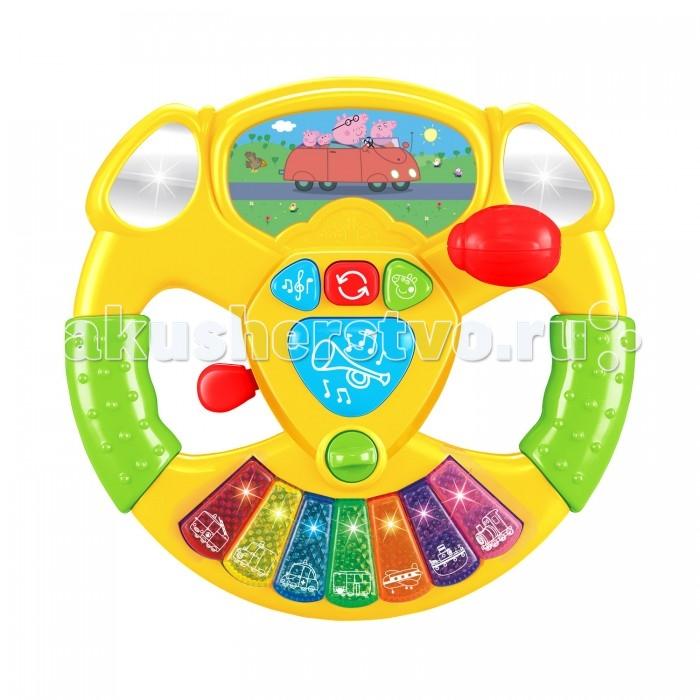 Электронные игрушки Свинка Пеппа (Peppa Pig) Музыкальный руль Пеппы игровой набор peppa pig семья пеппы 20837 мама и пеппа