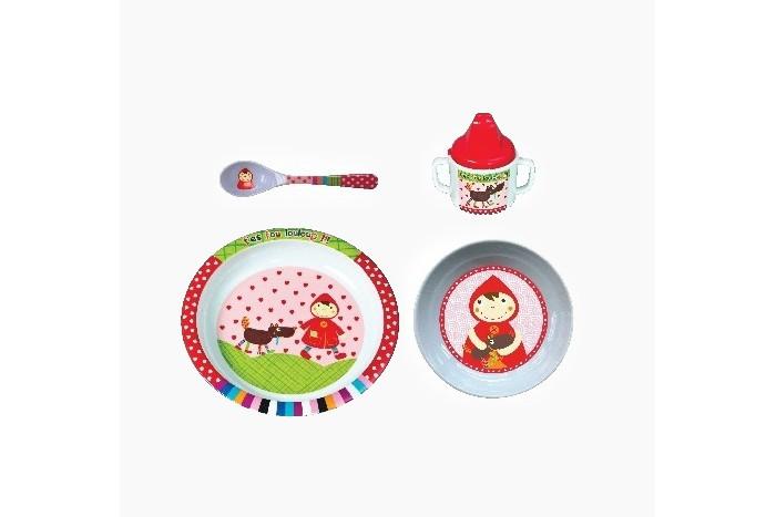Аксессуары для кормления , Посуда Ebulobo Набор посуды 4 предмета Красная шапочка арт: 443309 -  Посуда
