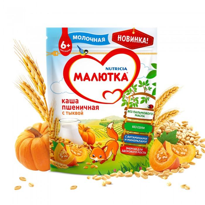 Каши Малютка Каша молочная пшеничная с тыквой 6 мес. 220 г каши сами с усами молочная пшеничная каша с тыквой с 5 мес 200 г