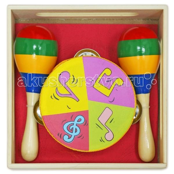Музыкальные игрушки Лесная сказка ЛС Инструменты, бубен, маракасы