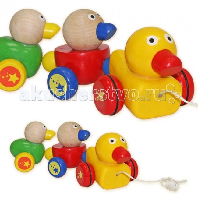 Каталка-игрушка Лесная сказка Утята на веревочке