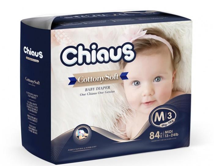 Подгузники Chiaus Подгузники Cottony Soft M (6-11 кг) 84 шт., Подгузники - артикул:445484