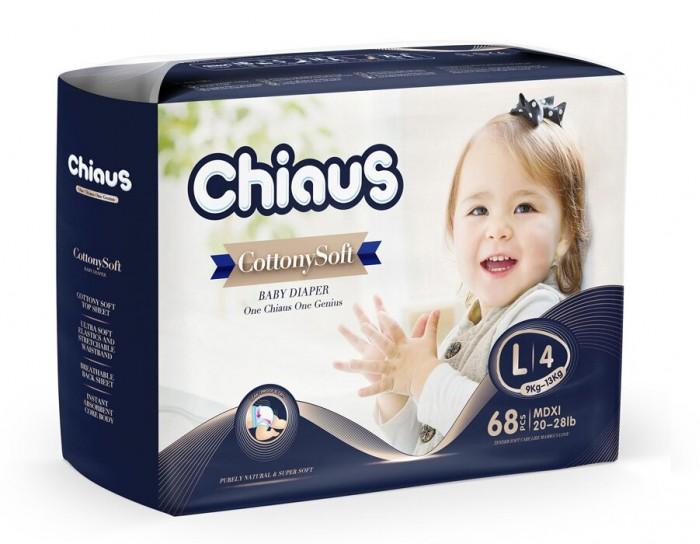 Подгузники Chiaus Подгузники Cottony Soft L (9-13 кг) 68 шт., Подгузники - артикул:445494