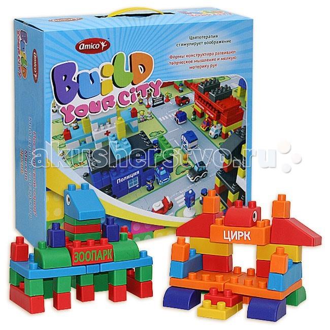 Конструктор Ami&amp;Co (AmiCo) Парк развлечений (63 детали) 13701Парк развлечений (63 детали) 13701Конструктор Парк развлечений (63 детали) 13701.  Конструктор – это одна из самых увлекательных игрушек для детей.   Из множества красочных , разных по форме деталей можно собрать все что угодно.   Достаточно только проявить воображение, фантазию и творческое мышление. Мягкий конструктор ТМ «Amico» отличается яркой цветовой палитрой,  а так же сооружаемыми постройками.   Конструктор выполнен из ПвХ, не токсичен, все детали эргономичны, что делает его безопасным даже для самых маленьких. Так маленькие строители смогут построить Аэропорты, Полицейский участок, даже Цирк, который обязательно пригласят всех желающих.  Все конструкторы серии совместимы между собой.<br>