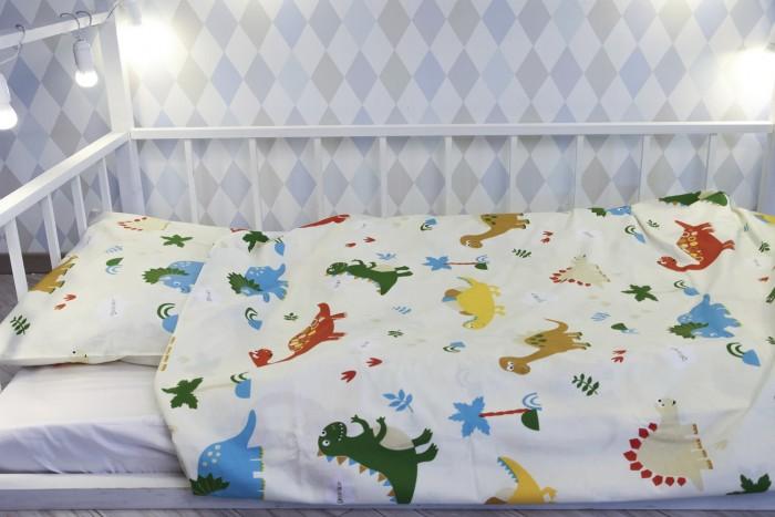 Постельные принадлежности , Постельное белье 1.5-спальное Уютная История Динозавры 1.5-спальное (2 предмета) арт: 445979 -  Постельное белье 1.5-спальное