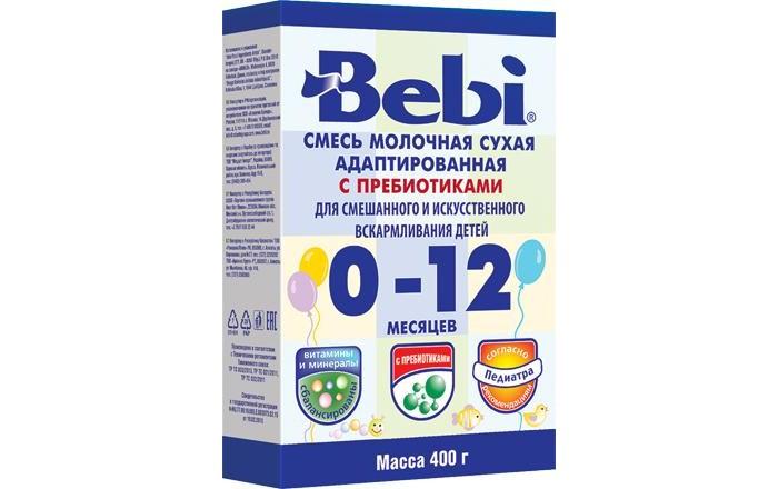 Молочные смеси Bebi Молочная смесь 0-12 мес. Пребиотики 400г (картон) gbs конфеты фигурные из молочного шоколада с воздушным рисом и вкусом апельсина 75 г