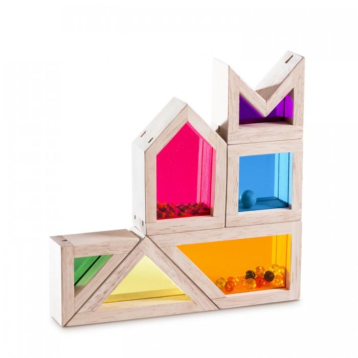 Деревянные игрушки Wonderworld Радужные блоки со звуком Цвет и Звук каталки игрушки wonderworld поезд на веревочке