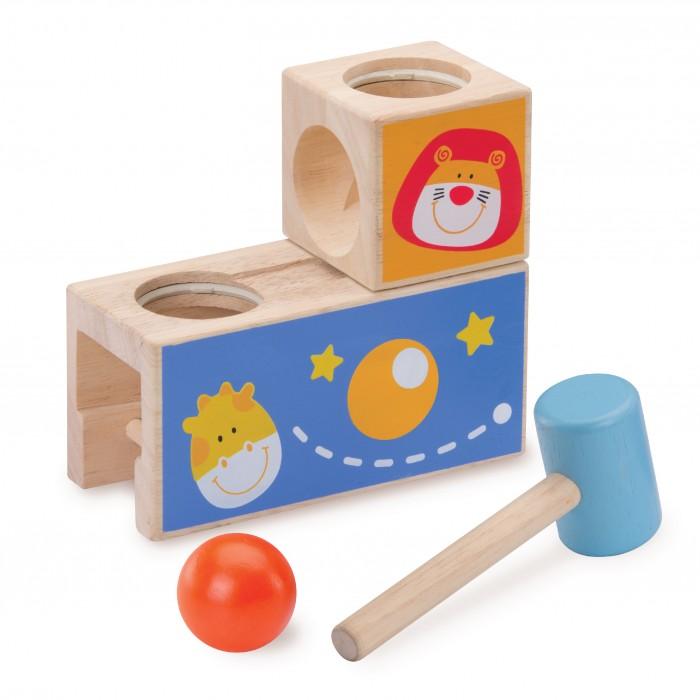 Деревянные игрушки Wonderworld Стучалка с шариком Сафари каталки игрушки wonderworld поезд на веревочке