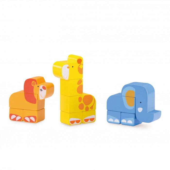 Деревянные игрушки Wonderworld Конструктор Сафари wwt деревянный конструктор веселый поезд сафари