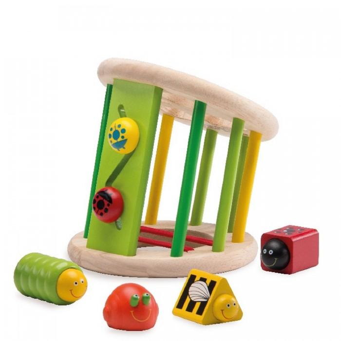 Деревянные игрушки Wonderworld Сортер Жучки каталки игрушки wonderworld поезд на веревочке