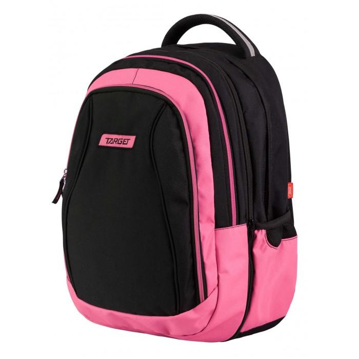 Target Collection Рюкзак Pink pampero 2 в 1Рюкзак Pink pampero 2 в 1Target Collection Рюкзак Pink pampero 2 в 1 имеет яркий рисунок и изготовлен из современных, прочных материалов.  Техническими особенностями рюкзака (портфелей) Target Collection является система Flexiball (поясничная поддержка), которая оптимально адаптирована для ребенка. Ведь самое главное, чтобы ребенок имел правильную осанку во время переноски портфеля. Система Flexiball является новшеством в промышленности, она правильно распределяет вес мешка, автоматически подстраивается под ребенка и поэтому обеспечивает идеальное положение для поясничной поддержки. Во время прогулки, система Flexiball движется вместе с ребенком, за счет гибкого материала уменьшает нагрузку при ходьбе.  Особенности: Рюкзак оснащен тремя большими отделениями На внешней стороне рюкзака расположен большой накладной карман на молнии По бокам имеются два кармана на резинке Бегунки на застежках дополнены удобными тканевыми держателями Одно отделение отстегивается и превращается в малый рюкзак с лямками Плечевые лямки можно отрегулировать Плотная тканевая ручка в верхней части рюкзак  Ортопедическая спинка.<br>