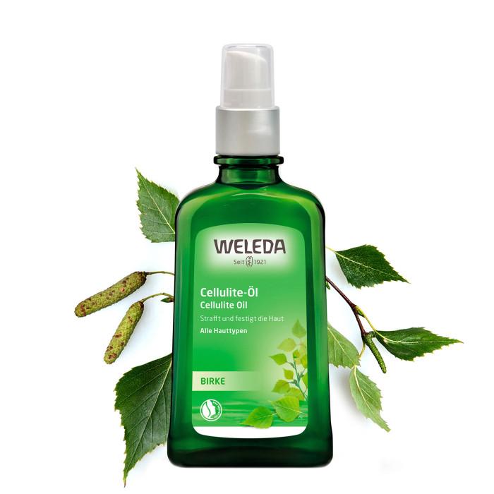 Косметика для мамы Weleda Масло антицеллюлитное березовое 100 мл масла weleda березовое антицеллюлитное масло 200 мл