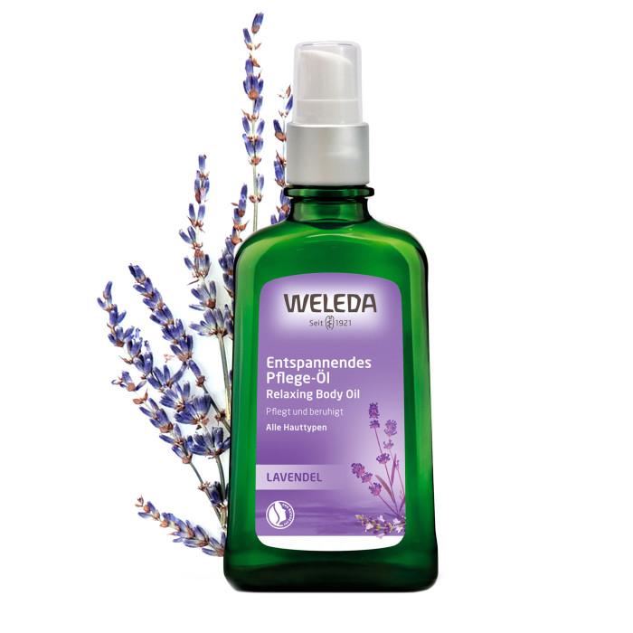 Косметика для мамы Weleda Масло расслабляющее с лавандой 100 мл масло для тела weleda лавандовое расслабляющее бутылка 100 мл