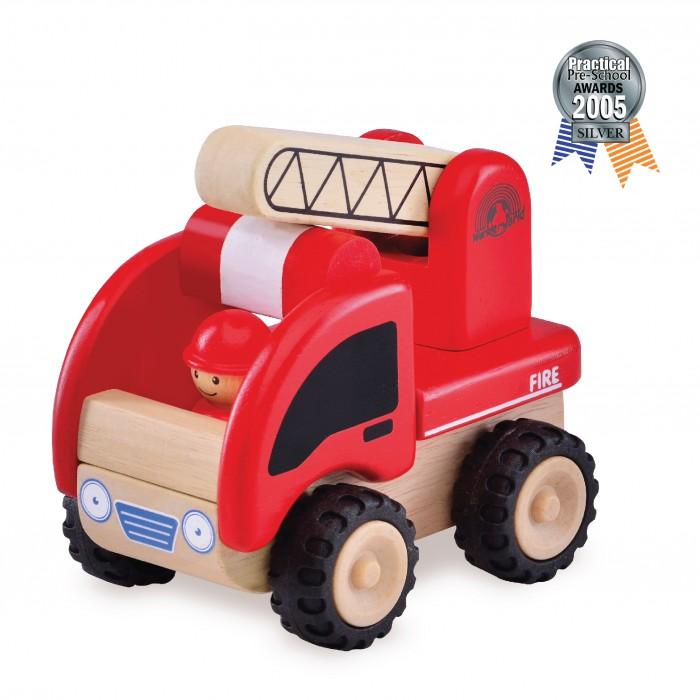 Деревянные игрушки Wonderworld Пожарная машина Miniworld деревянные игрушки wonderworld трактор му му с прицепом miniworld