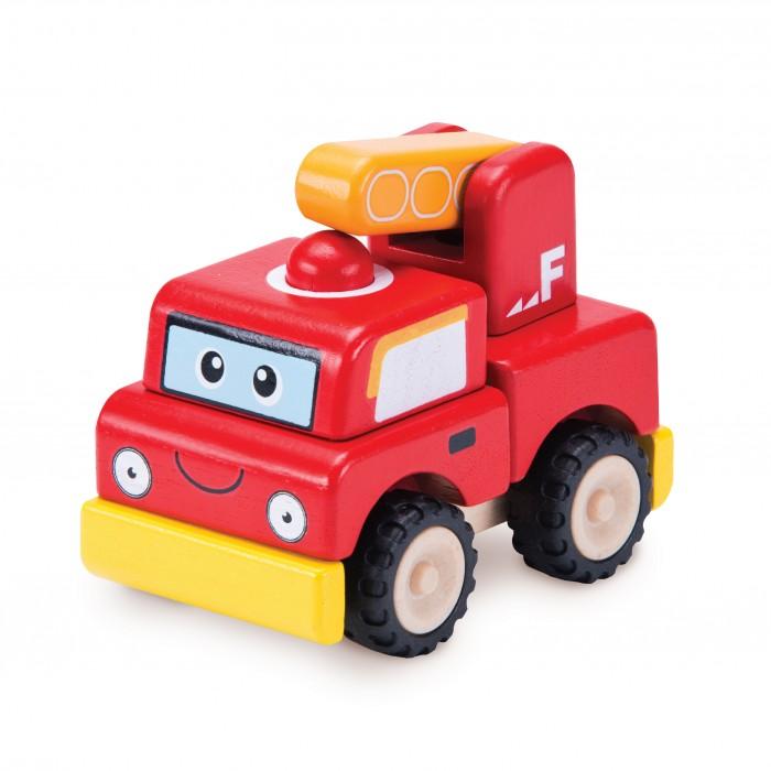 Деревянные игрушки Wonderworld Конструктор Пожарная машина Miniworld деревянные игрушки wonderworld трактор му му с прицепом miniworld