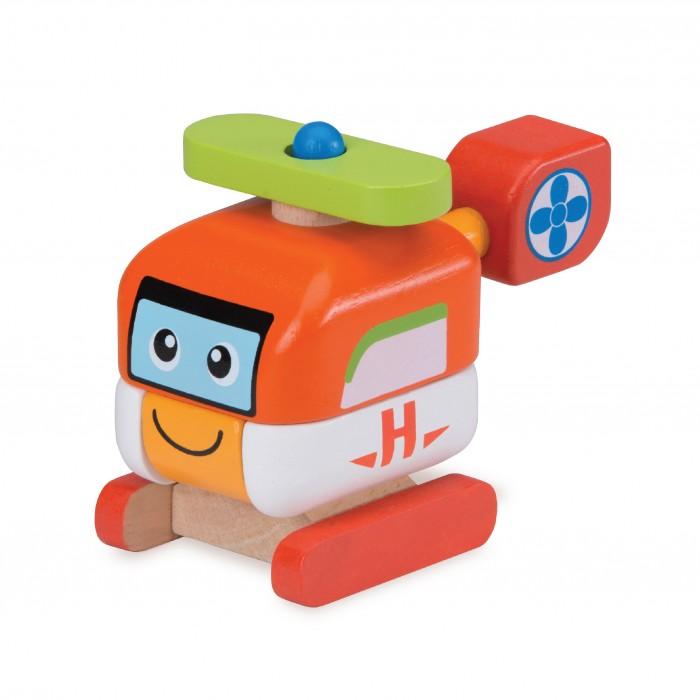 Деревянные игрушки Wonderworld Конструктор Вертолет Miniworld деревянные игрушки wonderworld трактор му му с прицепом miniworld