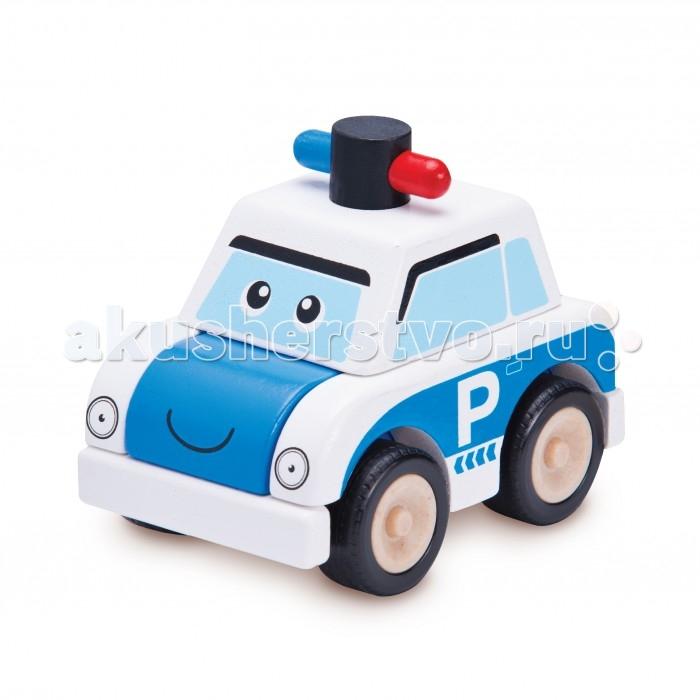Деревянные игрушки Wonderworld Конструктор Полицейская машина Miniworld деревянные игрушки wonderworld трактор му му с прицепом miniworld