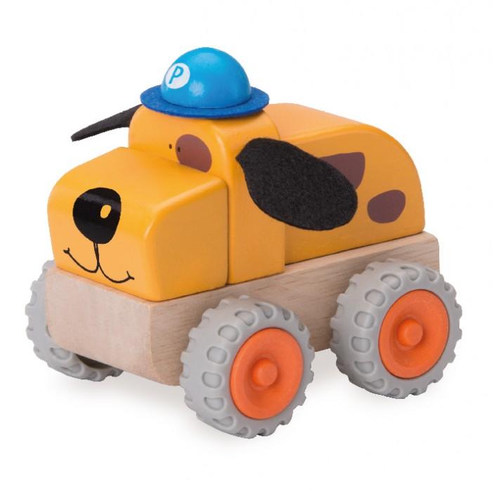Деревянные игрушки Wonderworld Полицейская машина Собачка Miniworld деревянные игрушки wonderworld трактор му му с прицепом miniworld