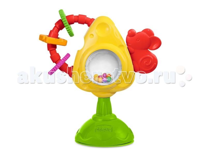 chicco игрушка для стульчика мышка с сыром и крекерами chicco Развивающие игрушки Chicco Мышка с сыром и крекерами
