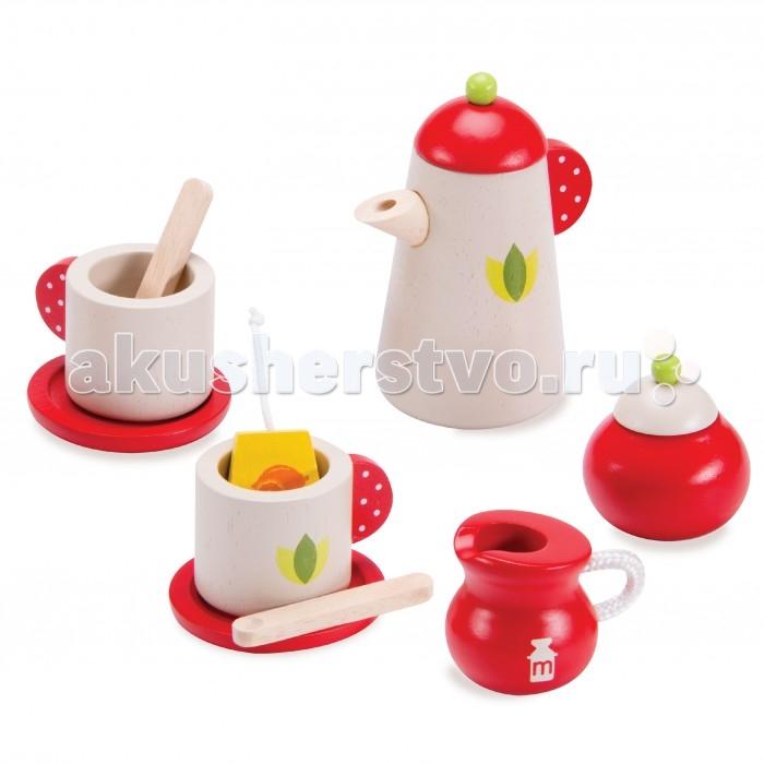 Деревянные игрушки Wonderworld Чайный сервиз 5 предметов