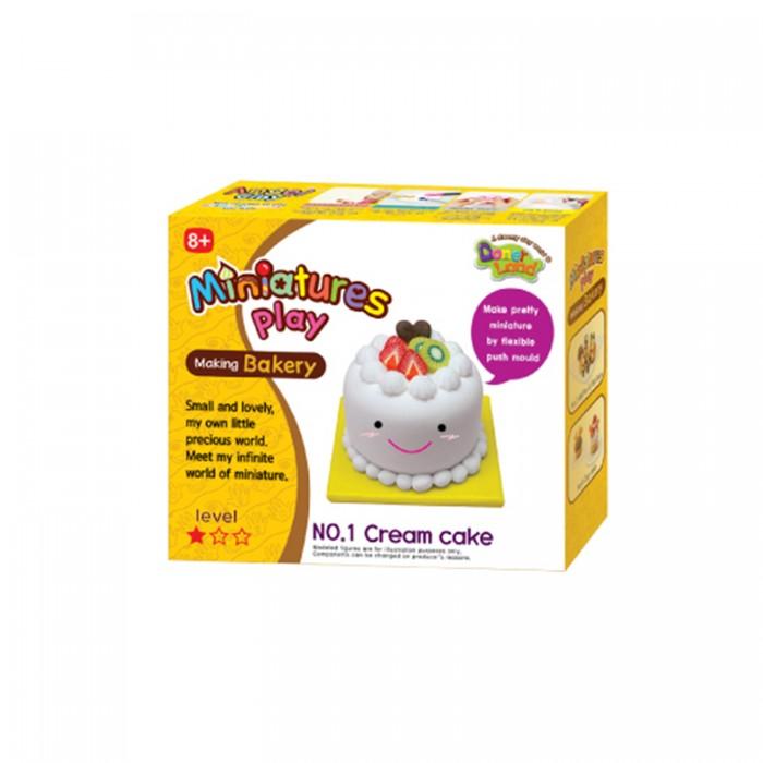 Всё для лепки Miniatures Play Набор для лепки Кремовый торт всё для лепки angel clay масса для лепки teddy bear