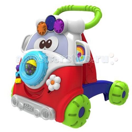 Ходунки Chicco Игровой центр Забавный автобусИгровой центр Забавный автобусИгровой центр Забавный автобус поможет ребенку встать на ножки и сделать первые уверенные шаги.  Забавный маленький винтажный автобус.   Помогает обрести баланс и сделать первые шаги в безопасности, благодаря четырем большим колесам, поддерживающим стабильность.  Богатая игровая панель, предлагающая 5 разных игр.   Игрушка изготовлена &#8203;&#8203;из прочного пластика овальной формы, устойчивые к ударам и растрескиванию.<br>