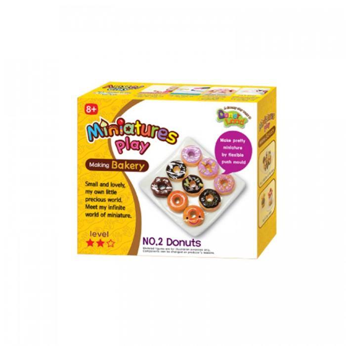 Всё для лепки Miniatures Play Набор для лепки Пончики масса для лепки candy clay набор конфетки
