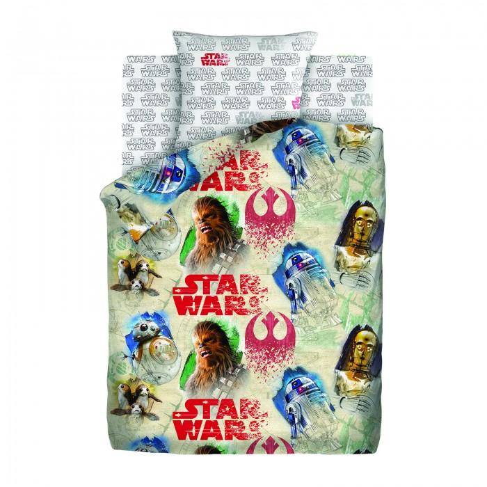 Постельные принадлежности , Постельное белье 1.5-спальное Непоседа Star Wars Чубакка и Дроиды 1.5-спальное (3 предмета) арт: 447924 -  Постельное белье 1.5-спальное