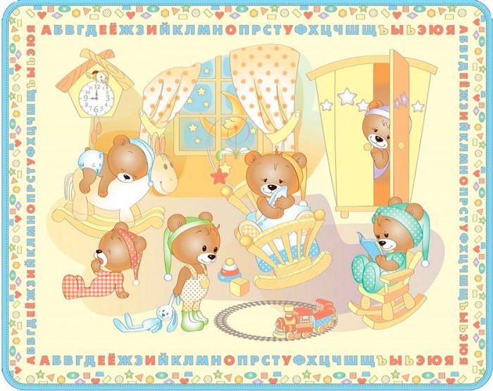 Игровые коврики Mambobaby Медвежата односторонний 200х160х0,5 см, Игровые коврики - артикул:448029
