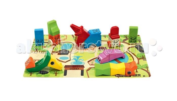 Развивающие игрушки People Набор кубиков Zoo Animals (17 шт.) и Игровой коврик, Развивающие игрушки - артикул:448169