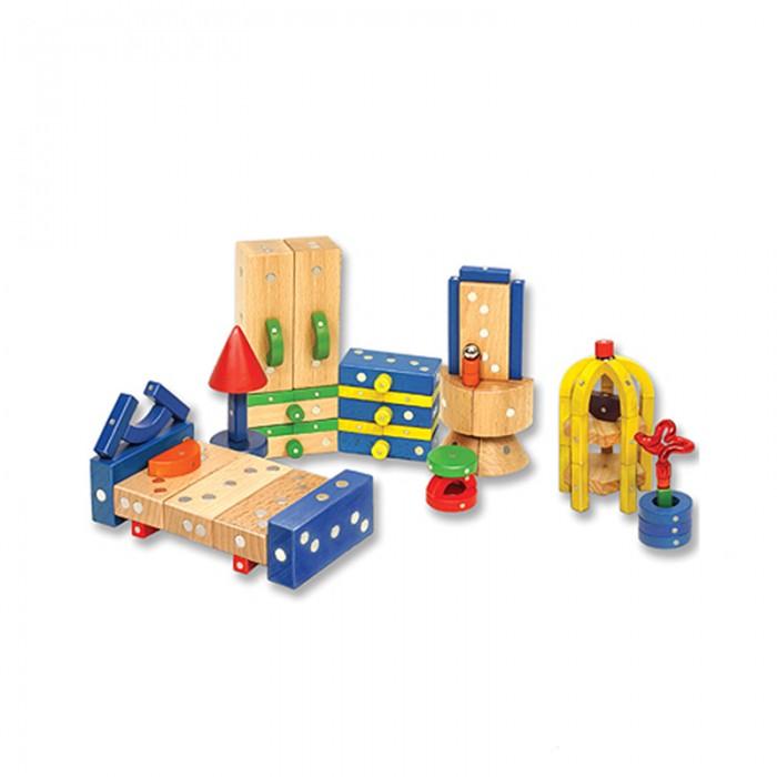 Конструктор Genii Creation Магнитный деревянный Спальня 82 элементаМагнитный деревянный Спальня 82 элементаGenii Creation Конструктор Магнитный деревянный Спальня 82 элемента замечательный подарок для маленькой девочки.  С помощью деревянных магнитных деталей ваш ребенок своими руками создаст волшебный интерьер для своей куколки. Сделать можно все необходимое для кукольного дома – кровать, лампу, вместительный шкаф, комод, трюмо, кресло и многое другое. Самое интересное, что интерьер можно менять по настроению, ведь всегда все можно легко переделать.    Деревянный магнитный конструктор Спальня способствует развитию пространственного и логического мышления, фантазии, прививает ребенку усидчивость.  Компания Genii Creation впервые разработала магнитные блоки, которые можно прикреплять друг к другу под углом и вращать в разные стороны, При движении деревянные детали издают приятный звук, что делает игру еще более интересной и увлекательной,  Материал: европейский белый бук, кобальт В комплекте: 82 элемента<br>
