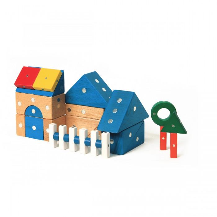 Купить Конструкторы, Конструктор Genii Creation Магнитный деревянный Дом 32 элемента