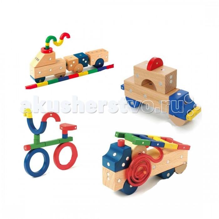Конструкторы Genii Creation Магнитный деревянный Транспорт мини 32 элемента томик деревянный конструктор транспорт