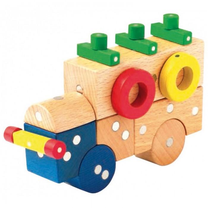 Конструкторы Genii Creation Магнитный деревянный Транспорт малый 54 элемента готовую баню без сборки
