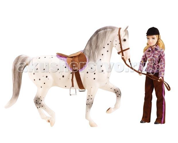 Breyer Набор лошадь и наездница любительская ездаНабор лошадь и наездница любительская ездаПомимо игровых и коллекционных моделей лошадей Breyer разработали целый ряд разнообразных аксессуаров, позволяющих сделать игру еще более интересной и увлекательной, и создавать целые сценки из жизни любимых лошадок на полке у ребенка.  Набор Лошадь и наездница, любительская езда из серии Traditional понравится как ребенку, так и коллекционеру. Яркая рыжая лошадка с реалистичной амуницией, которую можно снимать, прекрасно смотрится в паре с куклой-наездницей. Благодаря шарнирным конечностям кукле можно придать практически любое положение, и даже посадить в седло. Одежда снимается, и ее легко можно превратить в ковбоя или спортсменку, выступающую на соревнованиях.  В набор входит: Кукла в одежде для любительской верховой езды лошадь в масштабе 1:9 седло английское вальтрап уздечка красочный постер размер 28 см х 43 см   Все изготовлено из высококачественных материалов, экологично и абсолютно безопасно.   Рекомендовано детям от 4 лет.   Размер наездницы 20 см   Размер лошади Д х В: 20 см х 32 см<br>