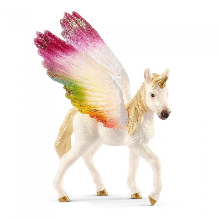 Игровые фигурки Schleich Игровая фигурка Детеныш крылатого радужного единорога schleich фигурка карликовый козел детеныш